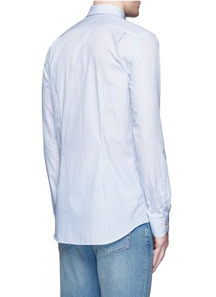 Back View - Click To Enlarge - Paul Smith - Micro paisley print cotton poplin shirt