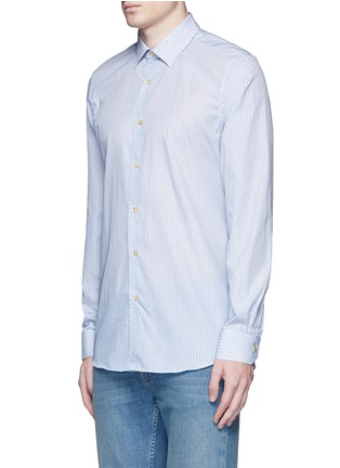 Front View - Click To Enlarge - Paul Smith - Micro paisley print cotton poplin shirt