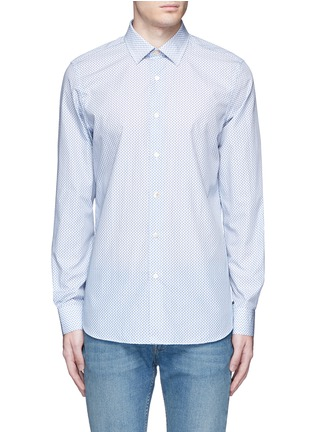 Main View - Click To Enlarge - Paul Smith - Micro paisley print cotton poplin shirt
