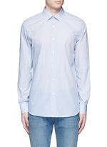 Micro paisley print cotton poplin shirt