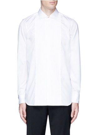 Main View - Click To Enlarge - Paul Smith - Pleated bib cotton tuxedo shirt