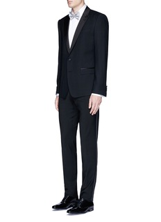 Paul SmithPleated bib cotton tuxedo shirt