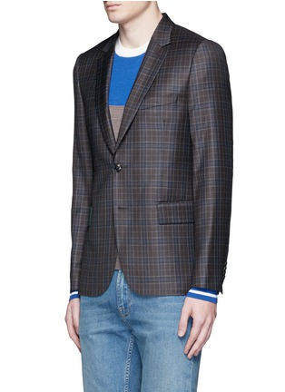 Front View - Click To Enlarge - Paul Smith - 'Soho' check plaid wool blazer