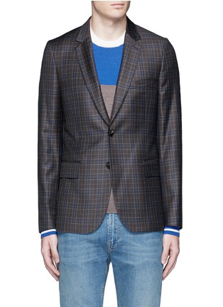 Main View - Click To Enlarge - Paul Smith - 'Soho' check plaid wool blazer