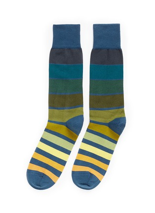 Main View - Click To Enlarge - Paul Smith - 'Gradient Block' stripe cotton socks