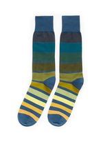 'Gradient Block' stripe cotton socks