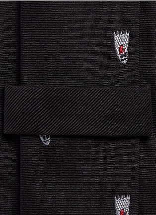 Paul Smith - Ghost embroidery silk tie