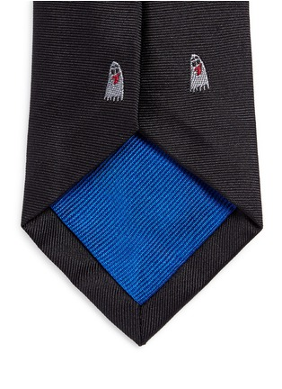 Detail View - Click To Enlarge - Paul Smith - Ghost embroidery silk tie