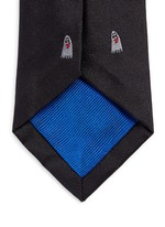 Ghost embroidery silk tie