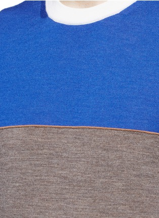 Detail View - Click To Enlarge - Paul Smith - Colourblock stripe wool-silk sweater