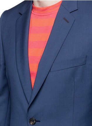 Detail View - Click To Enlarge - Paul Smith - 'Soho' wool-Mohair hopsack blazer