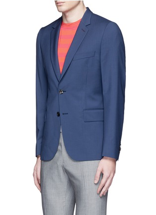 Front View - Click To Enlarge - Paul Smith - 'Soho' wool-Mohair hopsack blazer