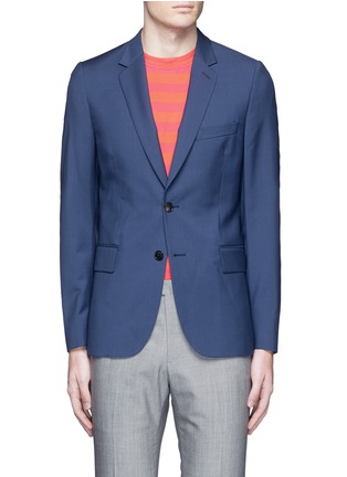Main View - Click To Enlarge - Paul Smith - 'Soho' wool-Mohair hopsack blazer
