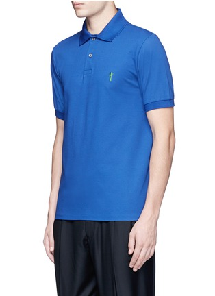 Front View - Click To Enlarge - Paul Smith - x Gufram cactus embroidery polo shirt