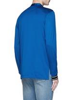 Band collar mercerised cotton shirt