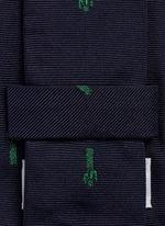 x Gufram cactus embroidery silk tie