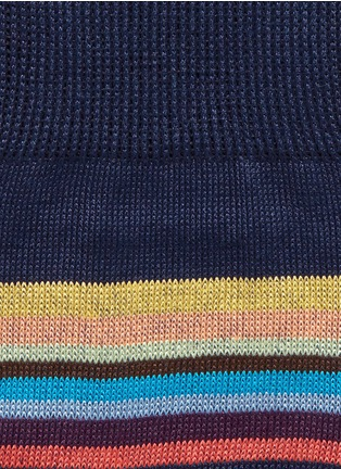 Detail View - Click To Enlarge - Paul Smith - Metallic stripe socks