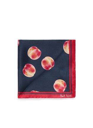 Main View - Click To Enlarge - Paul Smith - Peach print pocket square