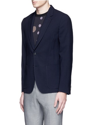 Front View - Click To Enlarge - Paul Smith - 'Soho' lattice overlay wool soft blazer