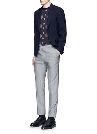 Figure View - Click To Enlarge - Paul Smith - 'Soho' lattice overlay wool soft blazer