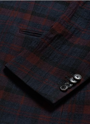 - Paul Smith - 'Soho' muted check plaid wool blazer