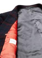 'Soho' muted check plaid wool blazer