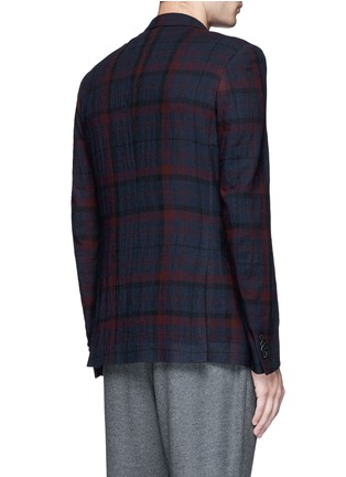 Back View - Click To Enlarge - Paul Smith - 'Soho' muted check plaid wool blazer