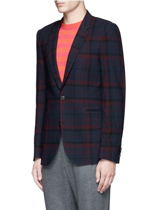 Front View - Click To Enlarge - Paul Smith - 'Soho' muted check plaid wool blazer