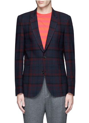 Main View - Click To Enlarge - Paul Smith - 'Soho' muted check plaid wool blazer
