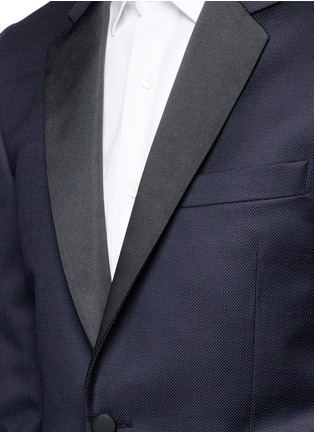 Detail View - Click To Enlarge - Paul Smith - 'Soho' repp trim dot dobby tuxedo suit