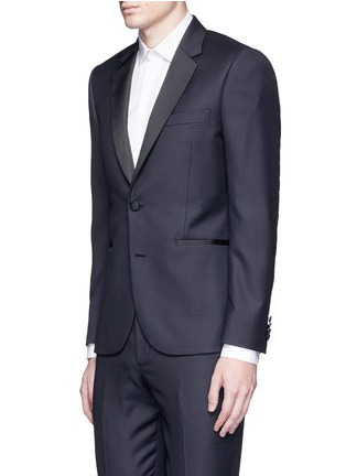 Front View - Click To Enlarge - Paul Smith - 'Soho' repp trim dot dobby tuxedo suit