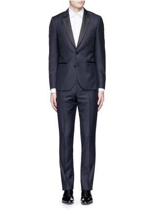 Main View - Click To Enlarge - Paul Smith - 'Soho' repp trim dot dobby tuxedo suit
