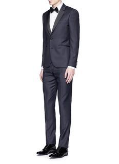 Paul Smith'Soho' repp trim dot dobby tuxedo suit