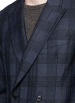 'Soho' bouclé check plaid double breasted soft blazer