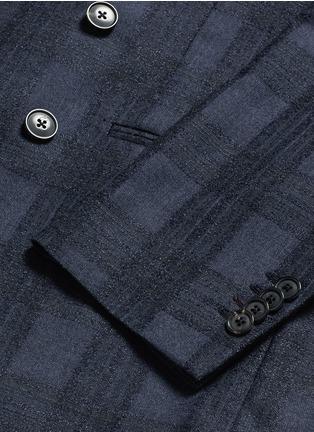 Paul Smith-'Soho' bouclé check plaid double breasted soft blazer