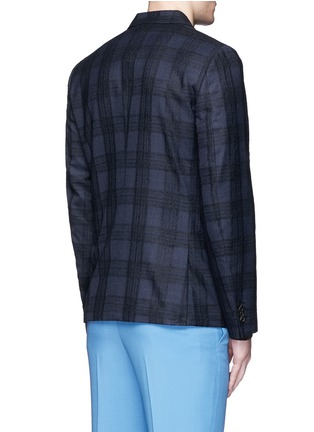 Back View - Click To Enlarge - Paul Smith - 'Soho' bouclé check plaid double breasted soft blazer