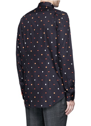 Back View - Click To Enlarge - Paul Smith - Mixed motif print cotton shirt