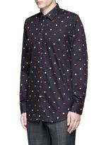 Mixed motif print cotton shirt