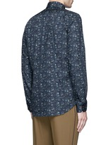 'Vine Floral' print cotton shirt