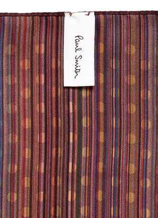 Detail View - Click To Enlarge - Paul Smith - Stripe polka dot print pocket square