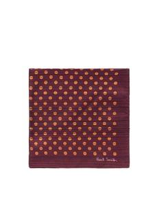 Paul SmithStripe polka dot print pocket square