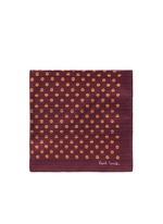 Stripe polka dot print pocket square