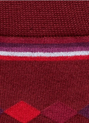 Detail View - Click To Enlarge - Paul Smith - Falling diamond socks
