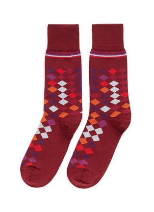 Main View - Click To Enlarge - Paul Smith - Falling diamond socks