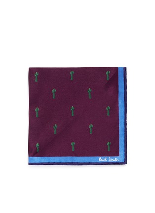 Main View - Click To Enlarge - Paul Smith - x Gufram cactus print pocket square