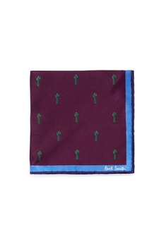 Paul Smithx Gufram cactus print pocket square