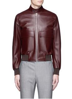 Paul SmithLeather flight jacket