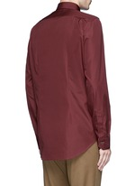 Contrast cuff lining cotton shirt