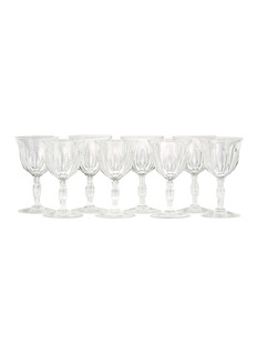 Authentiques Eight-piece vintage glass set