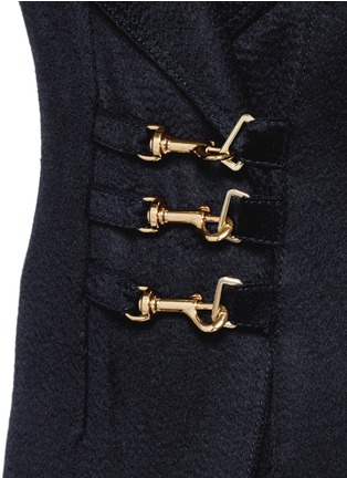 Detail View - Click To Enlarge - Esteban Cortazar - Trigger hook fastening double face cashmere coat